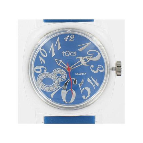 Men's Blue 40003 Watch w/ Transparent Case WW02300N