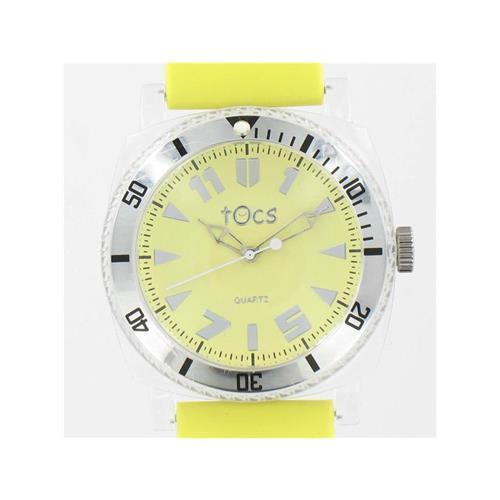 Analog Round Sporty-Diver Stick Dial Yellow Watch WW02315N