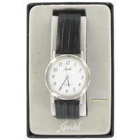 Black Leather Watch WW00584N