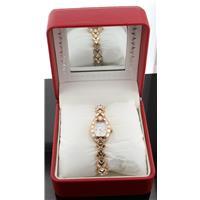 Andre Giroud Women's AG205139RGMP Rose-Tone Baguette Crystal Watch H117205
